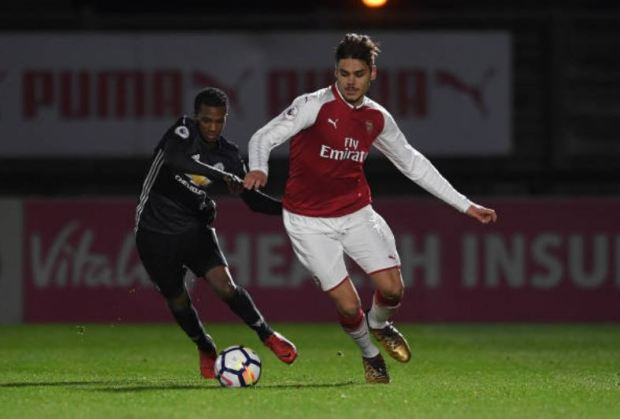 Mavropanos in action against United u23s